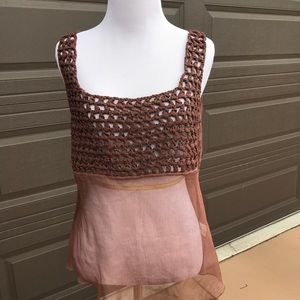 Crochet top -sheer on the bottom